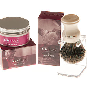 Badger Shaving Brush Gift Set - men's grooming & toiletries