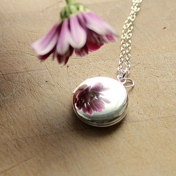 Personalised Stamped Silver Mirror Locket