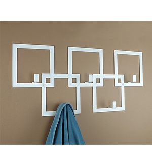 Squares Coat Rack - bathroom