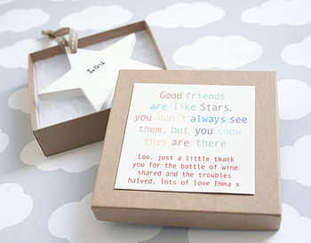 Personalised Wooden Friendship Star