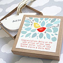 Personalised Wooden Bird Keepsake