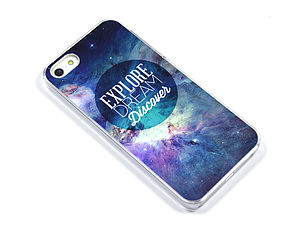 Geometric Space Galaxy Case For Iphones - men's accessories