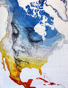 North America Map Print Part One - art & pictures
