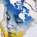 North America Map Print Part One