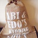 Original Personalised Hessian Wedding Sack