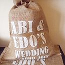 Original Personalised Hessian Wedding Sack