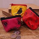 Birds, Bees And Ladybirds Leather Purse
