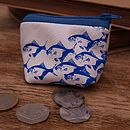 Camera Fish And Stag Beetle Leather Purse
