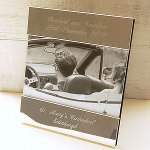 Personalised Photo Frame - 25th anniversary: silver