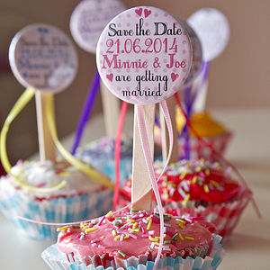 Cupcake Topper Save The Dates