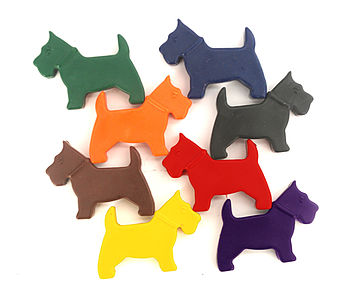 Set Of Eight Scotty Dog Crayons