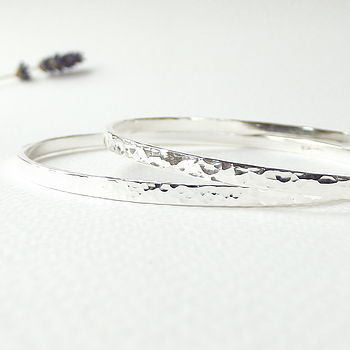 Forged Silver Stacking Bangle