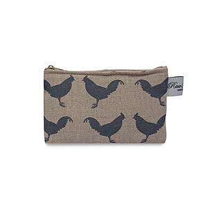 Chicken Flat Purse - make-up bags