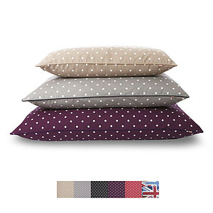 Pillow Dog Bed In Six Classic Fabrics - dogs