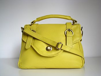 Leather Grab Buckle Handbag