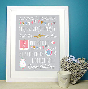 Personalised Wedding Print - personalised wedding gifts