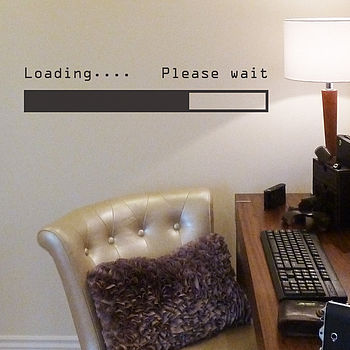 'Loading… Please Wait' Wall Sticker