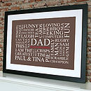 black framed print - chocolate brown print