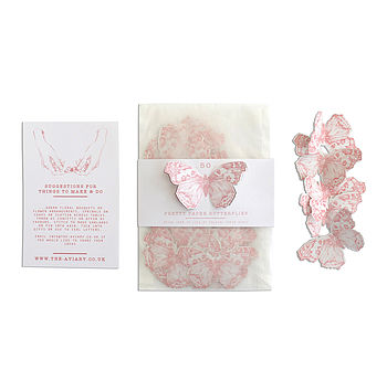 Paper Butterflies Illustrated Confetti