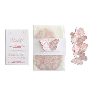 Paper Butterflies Illustrated Confetti - table decorations