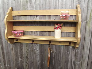 Reclaimed Housekeeper's Kitchen Shelf - bedroom