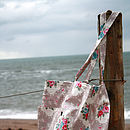 Oilcloth Vintage Inspired Floral Beach Bag