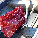 Oilcloth Red Spotty Beach Bag