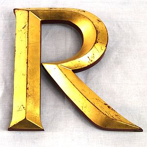 Vintage Gold Leaf Display Letters - room decorations