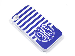 Personalised Monogram Stripe Case For IPhone - phone & tablet covers & cases