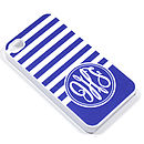 Personalised Monogram Stripe Case For IPhone