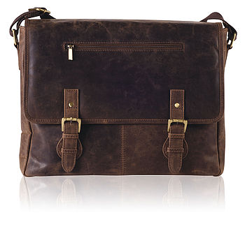 Men's Vintage Style Leather Messenger Bag