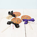Giant Personalised Halloween Swirly Lollipop