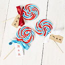 Thumb giant swirly british personalised lollipop