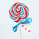 Personalised British Swirly Lollipop