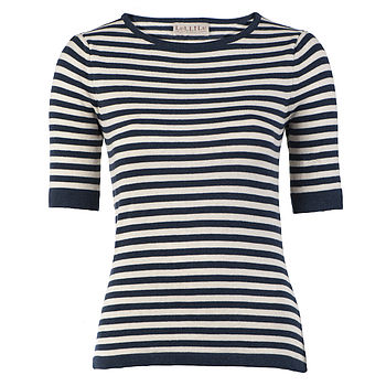 Pure Cotton Knitted Breton Essential Top
