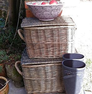 Set Of Two Storage Baskets - boxes, trunks & crates