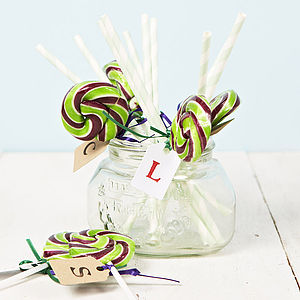 Personalised Swirly Green Lollipop - living & decorating