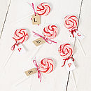 Personalised Pink Swirly Lollipop