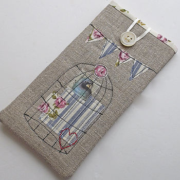 Birdcage And Bunting Glasses Case