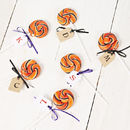 Personalised Swirly Halloween Lollipop