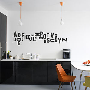 Jumbled Alphabet Wall Sticker - pictures, prints & paintings