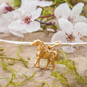 Gold Foal Skinny Bangle