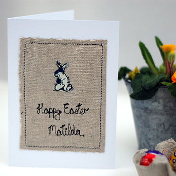 Liberty Print Floral Easter Card