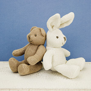 Knitted Soft Toy Rattle - children's easter