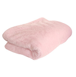 Blush Faux Fur Throw - throws, blankets & fabric
