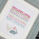 Personalised Easter Bunnies Print