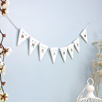 'Mr And Mrs Ceramic' Decorative Bunting