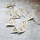 'Mr And Mrs' Paper Bunting