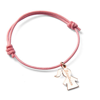 Personalised Girl Charm Bracelet