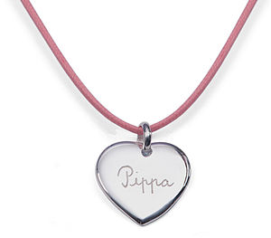 Children's Personalised Heart Charm Necklace - wedding thank you gifts
